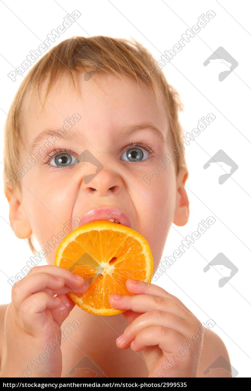 baby, with, orange - 2999535