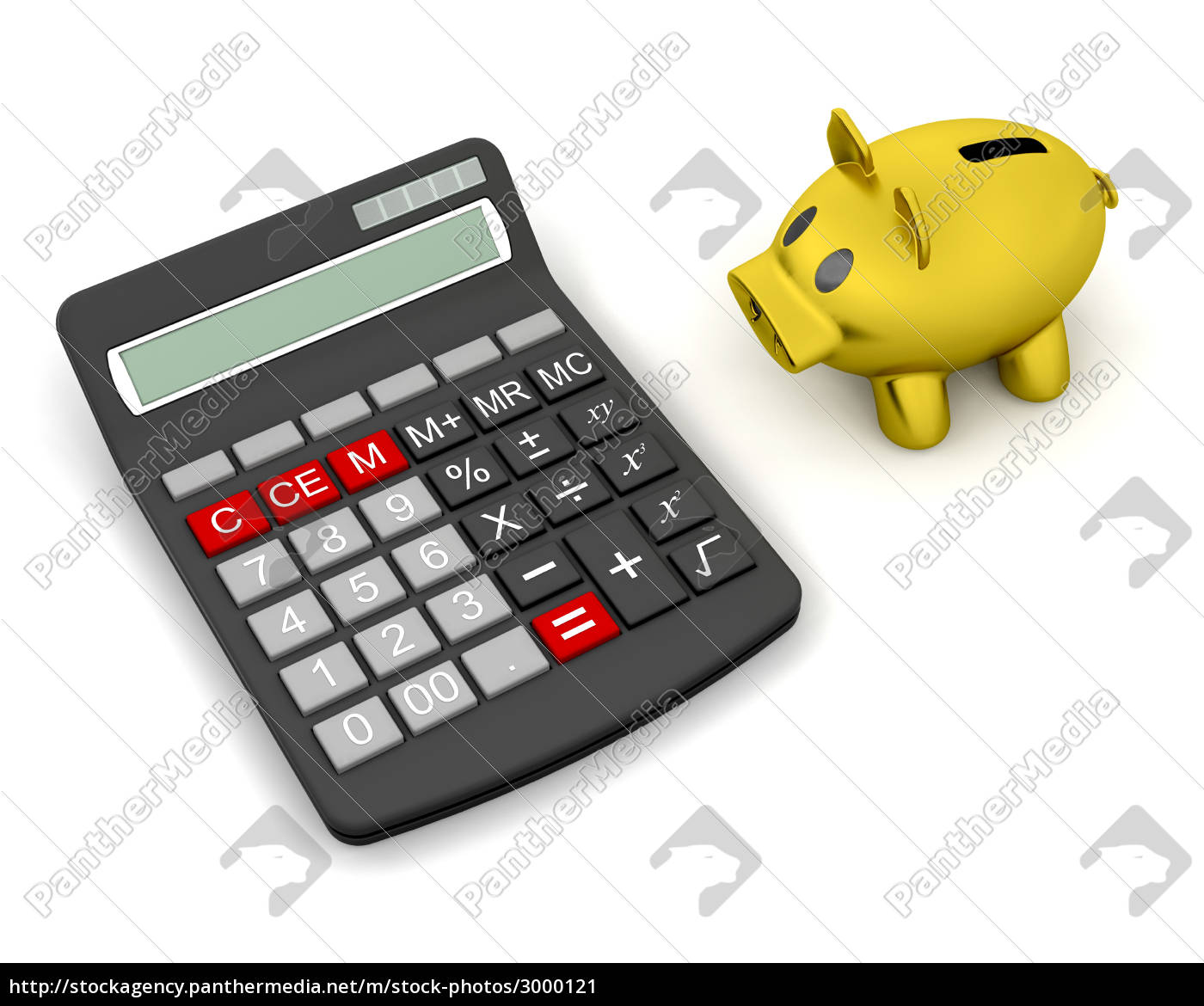 piggy, bank, and, calculator - 3000121