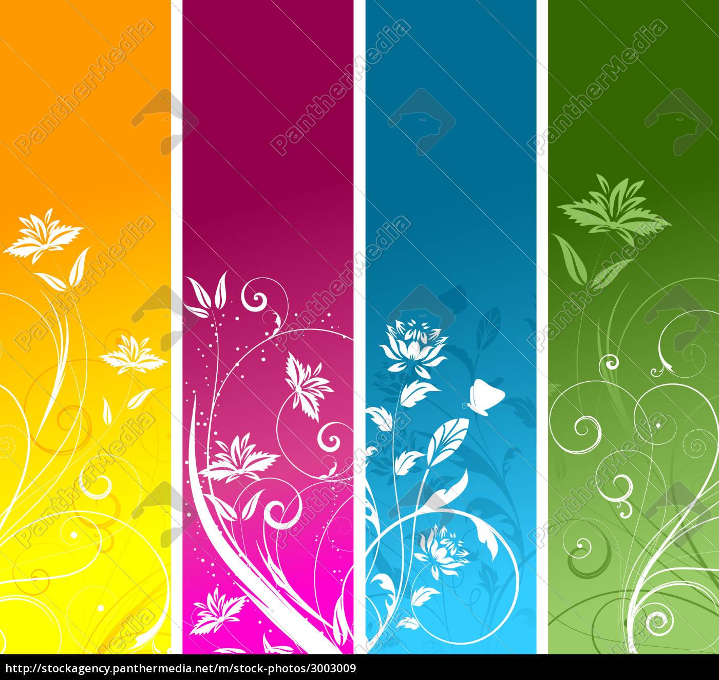floral, panels, - 3003009