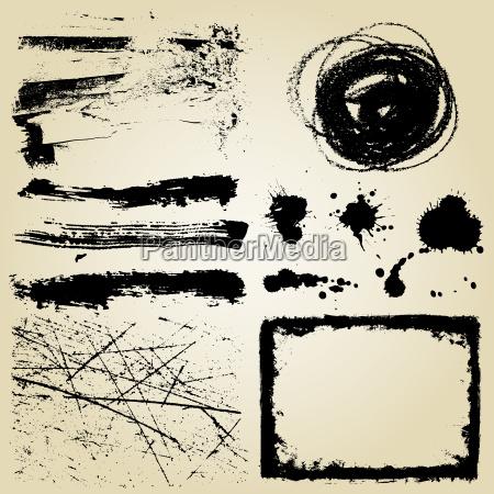grunge, design, elements - 3003211