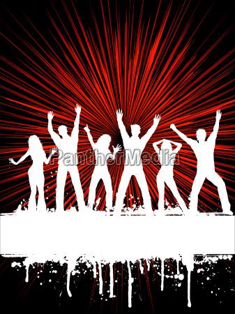 grunge, party, background, - 3003419