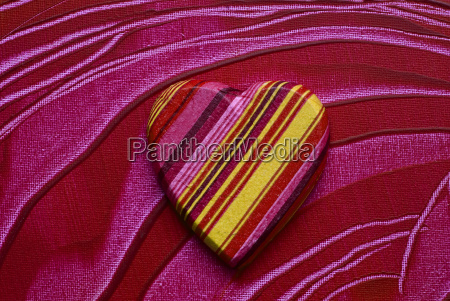 heart on painted background