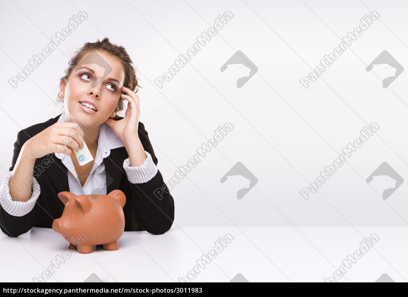 savings, -, business, woman, at, work - 3011983