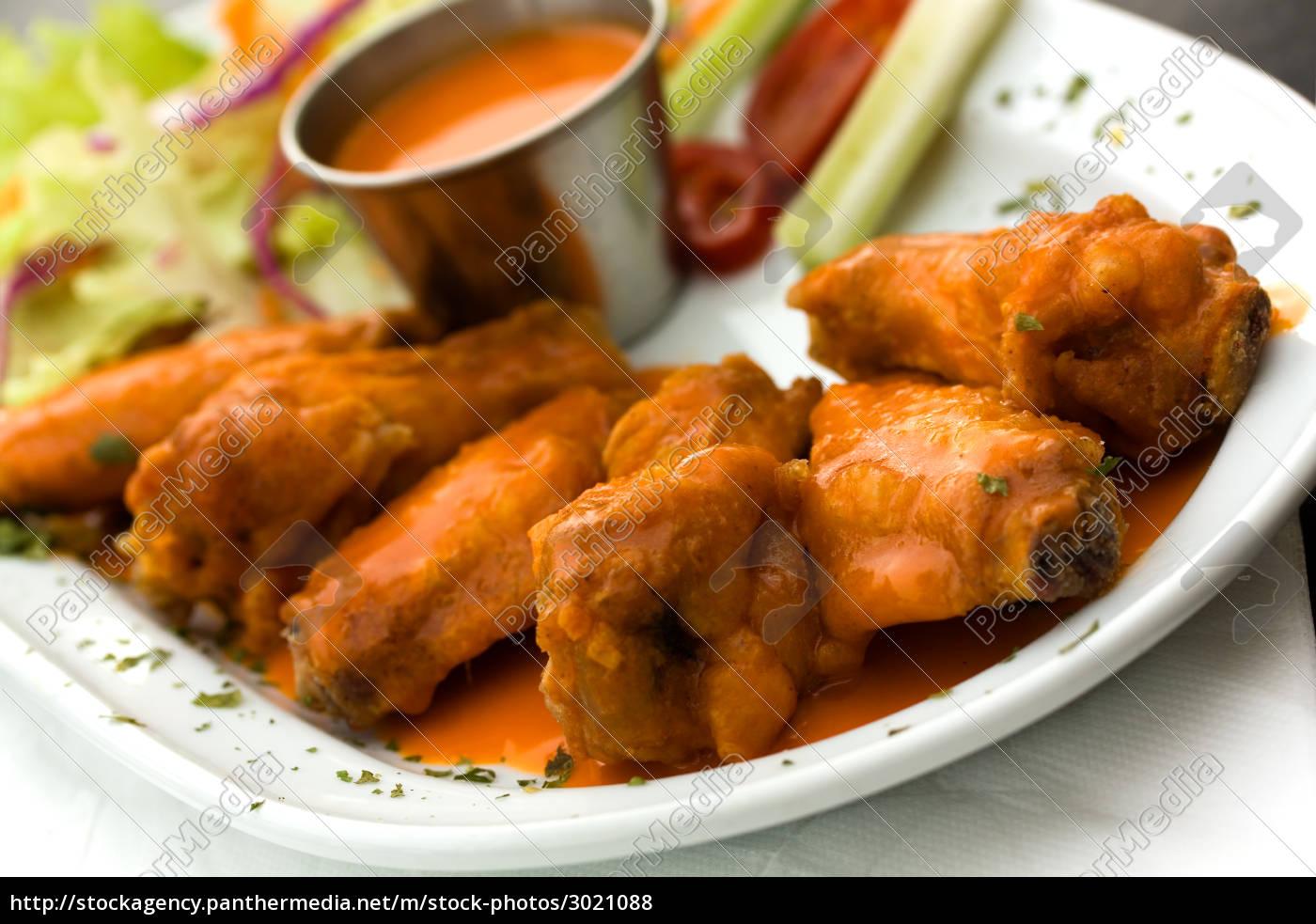 buffalo, wings, chicken, leg, gravy - 3021088