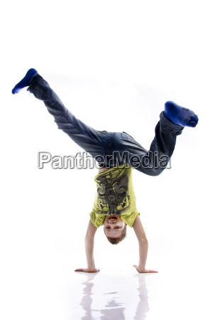 young, doing, headstand, wd651 - 3025952
