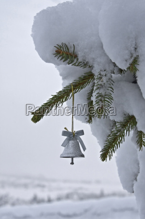 small christmas tree bell