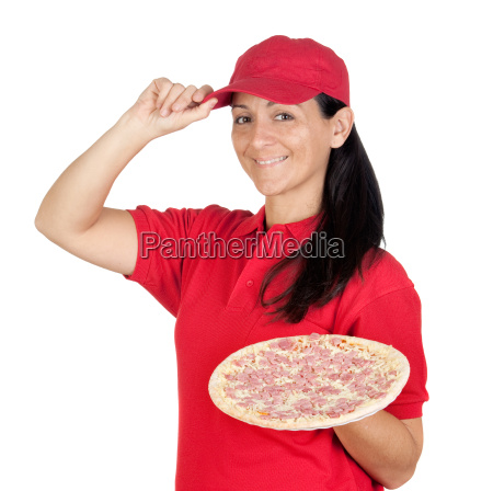delivery, woman, of, pizza - 3027752