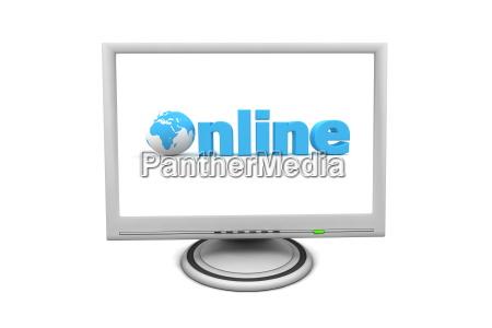 lcd, flat, screen, monitor, online - 3033211