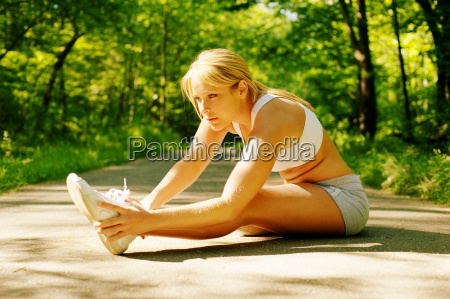 young, woman, resting, on, a, trail - 3037297