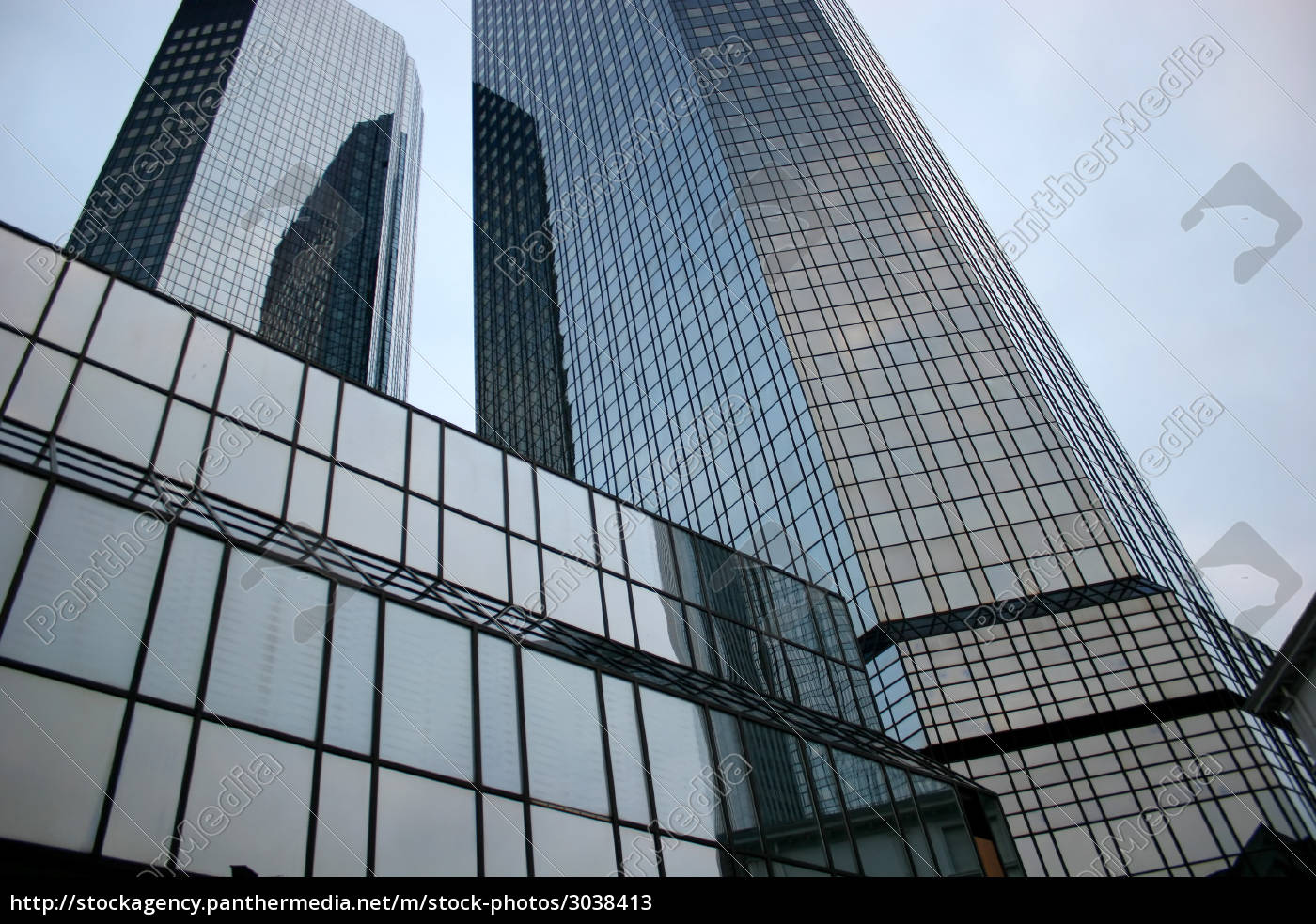 german, bank, twin, towers, frankfurt - 3038413