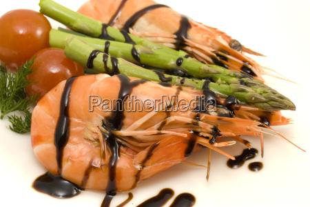 shrimps, and, asparagus - 3038577