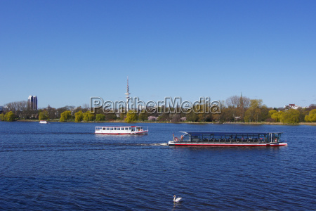 alster shipping with swan