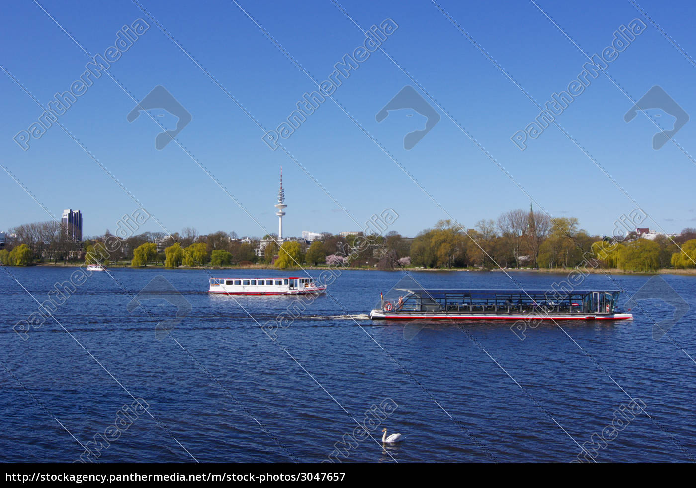 alster, shipping, with, swan - 3047657
