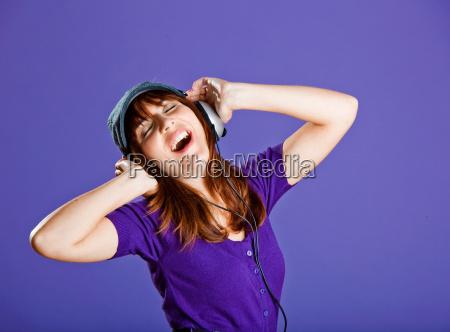 beautiful, woman, listening, music - 3047443