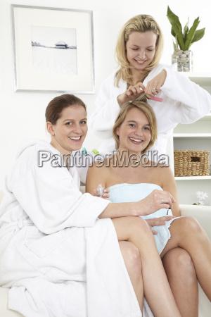 three, girlfriends, enjoy, wellness - 3048456