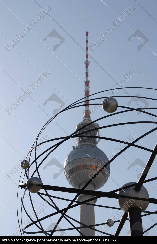 blue, berlin, capital, television tower, firmament, sky - 3050622
