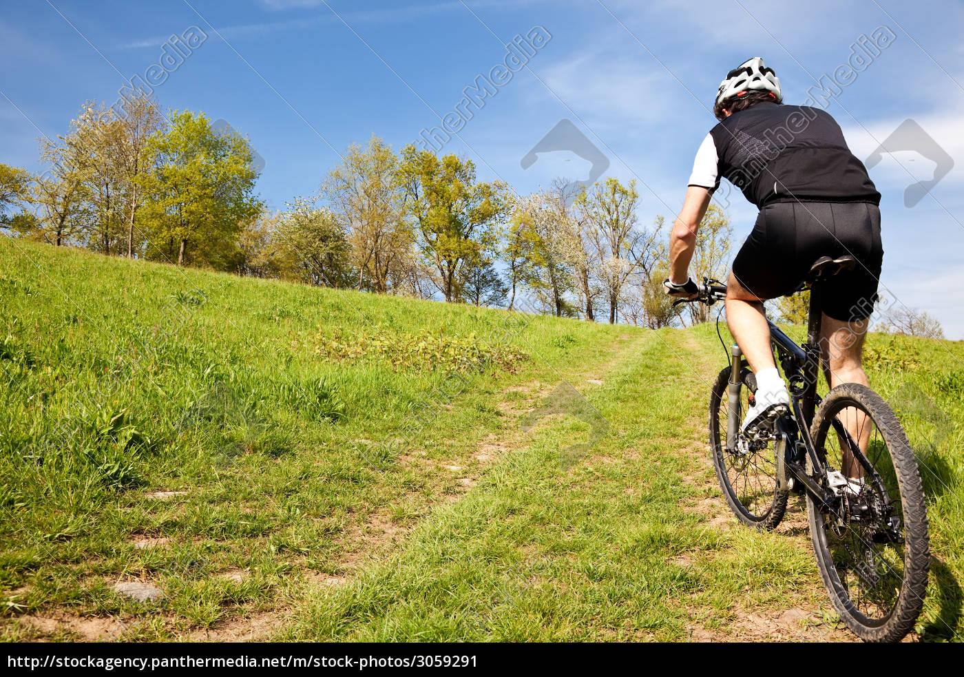 mountain, bike, cyclist, riding, uphill - 3059291