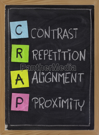 contrast repetition alignment and proximity