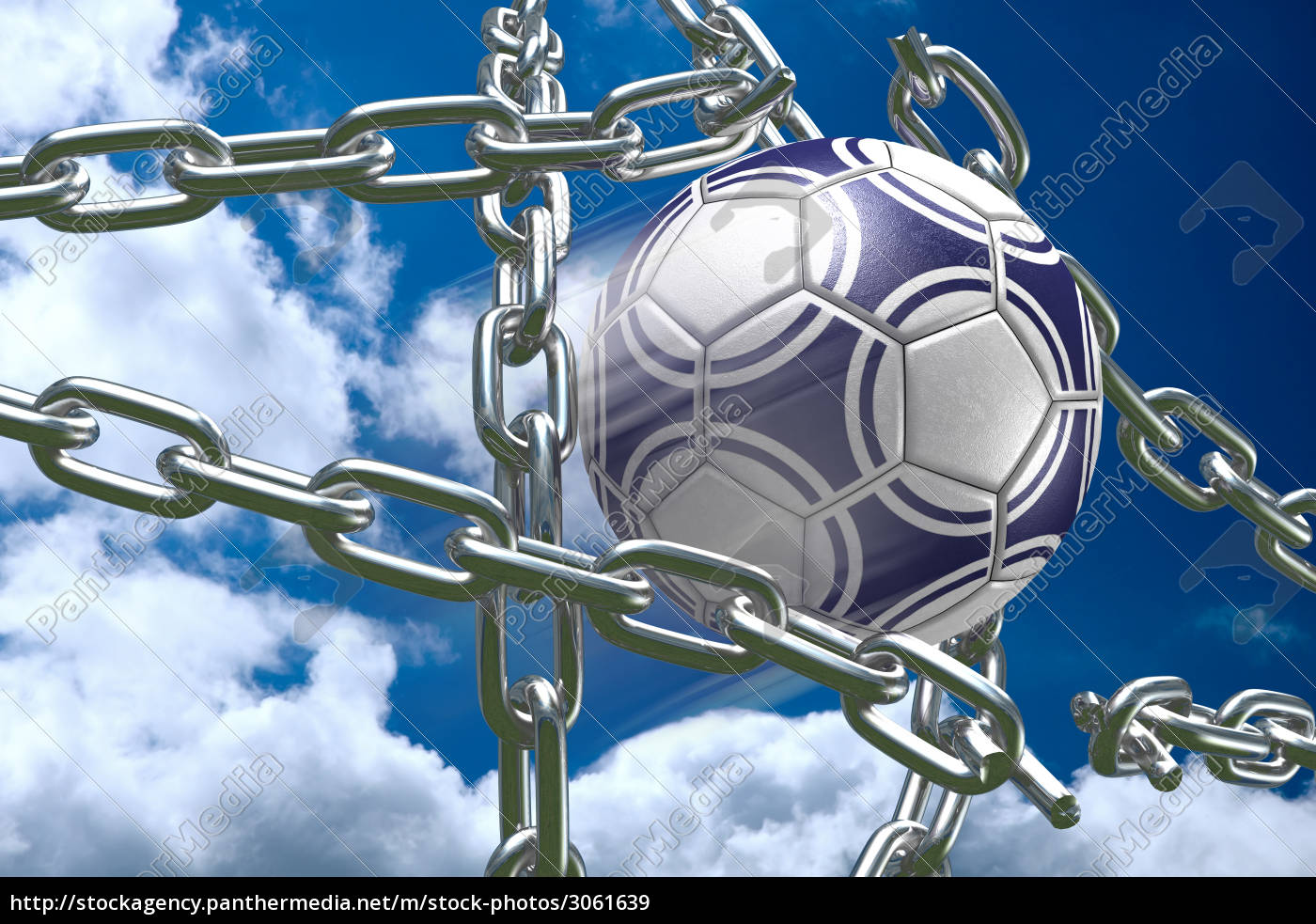 soccer, ball, breaking, chains - 3061639