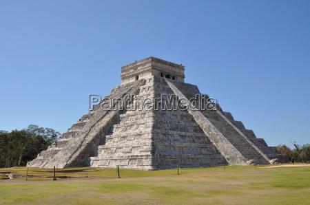 pyramid, chichen, itza, mexico, mexico - 3062497