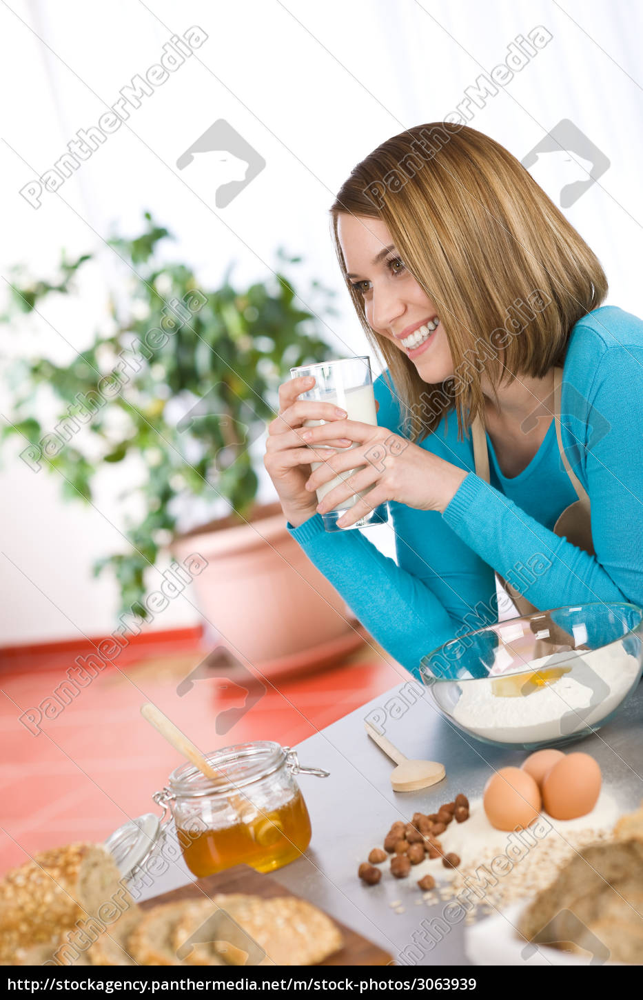 baking, -, , woman, with, healthy - 3063939