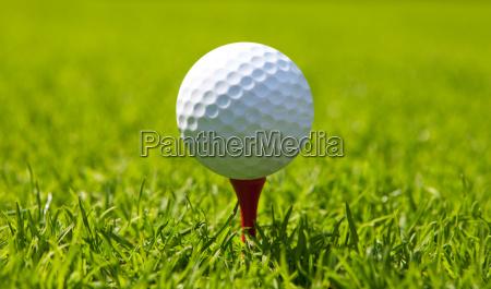 pelota golfo campo de golf una