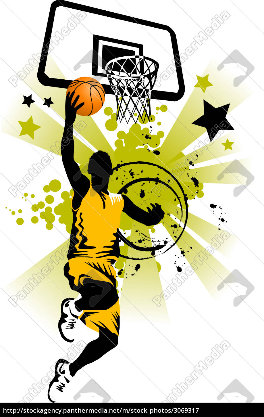 basketball, player, in, yellow, - 3069317