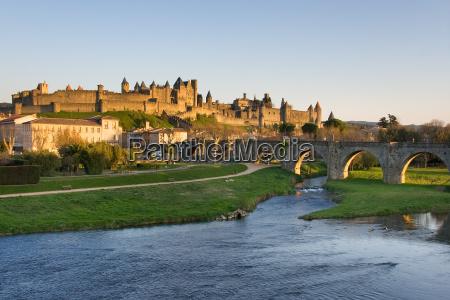 tower, stone, sunset, france, defense, landscape - 3070735