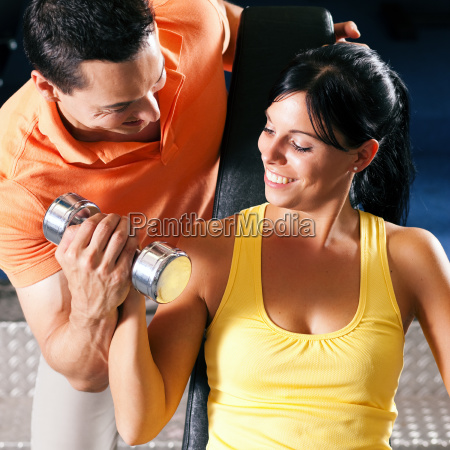 trainer, and, woman, in, gym - 3079589