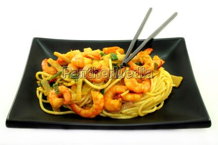 pasta, with, asian, shrimp - 3084331