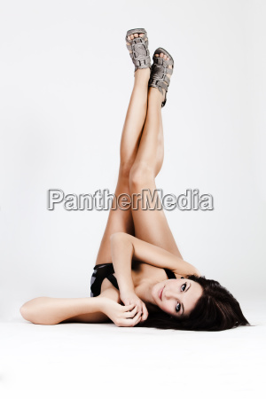 young, beautiful, woman, with, long, legs - 3086215