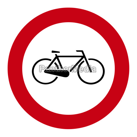 bicycle verbotsschild