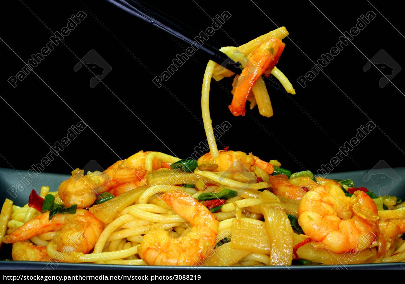 pasta, with, asia-shrimp - 3088219