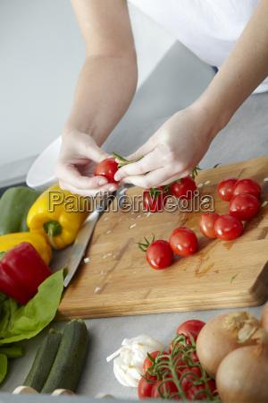 preparation of sugo for spaghetti bolognese