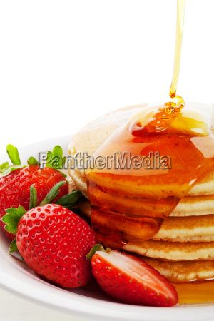 syrup, pouring, on, pancakes - 3090355