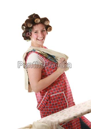 housewife with chocolates