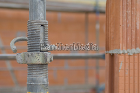 construction site scaffolding