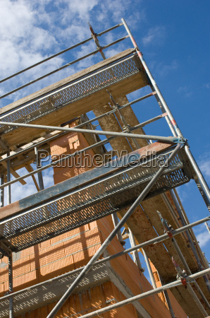 construction site scaffold