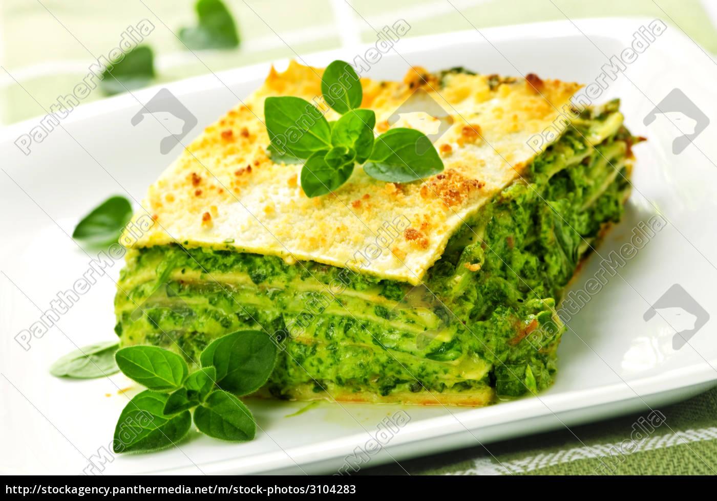 plate, of, vegeterian, lasagna - 3104283