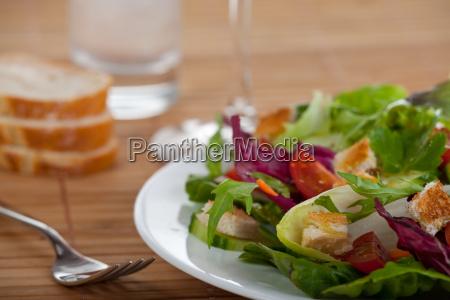 saladbaguette and a fork