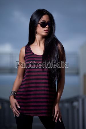 young attractive twenties asian woman