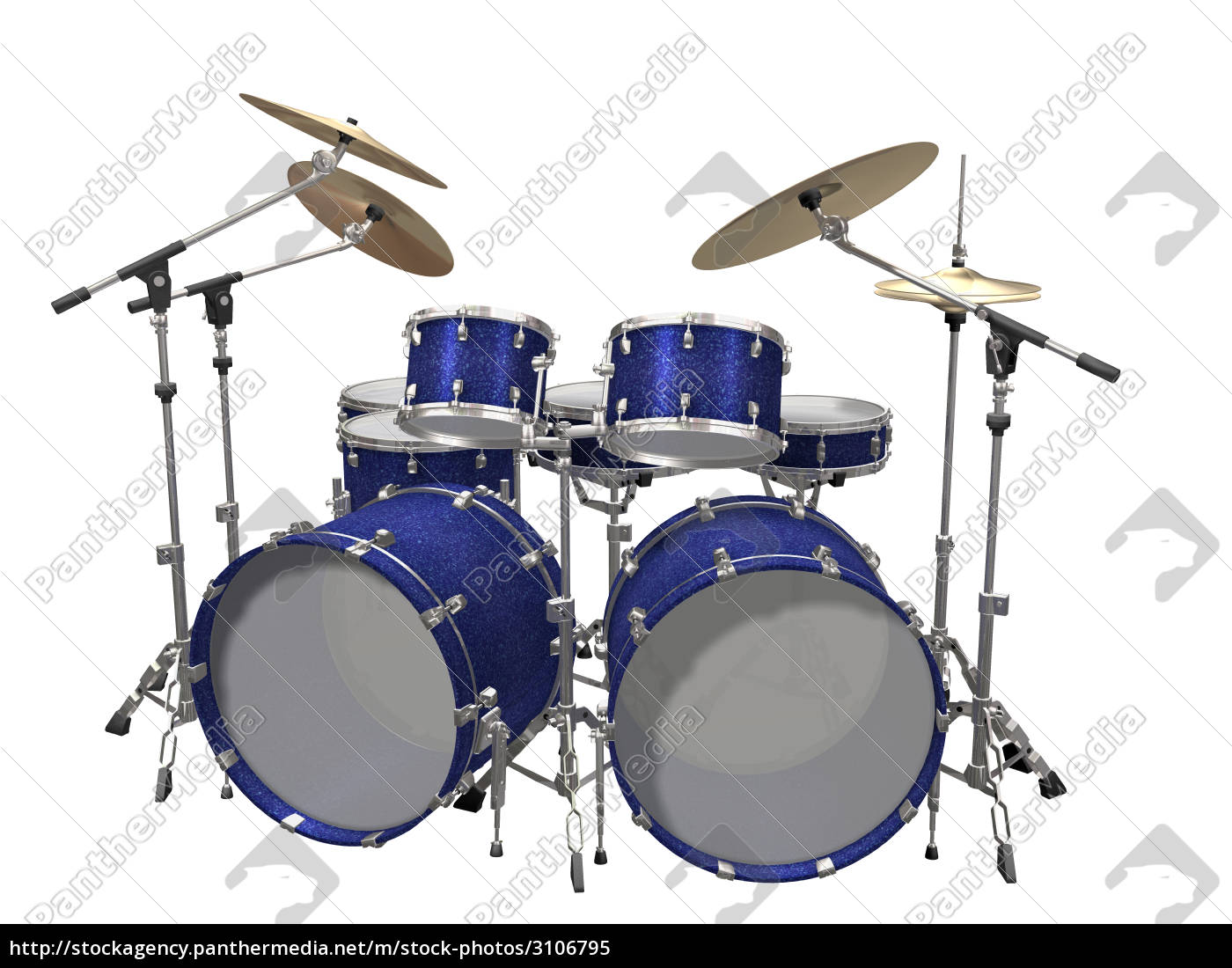 drum, kit, isolated, on, a, white - 3106795