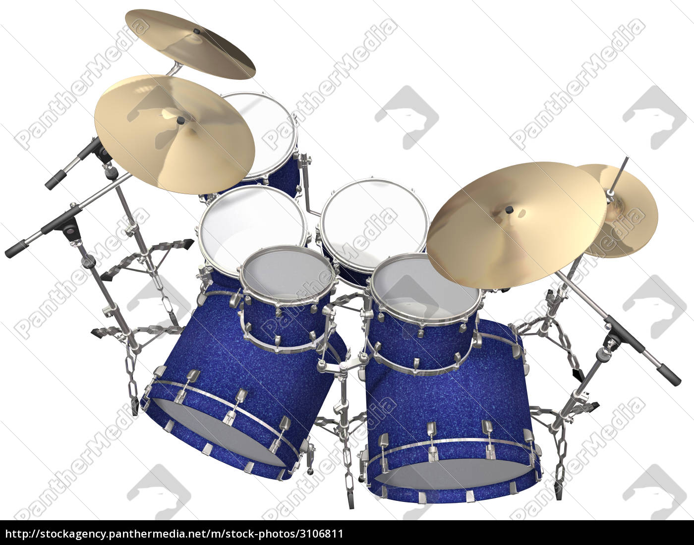 drum, kit, isolated, on, a, white - 3106811