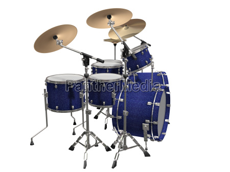 drum, kit, isolated, on, a, white - 3106815