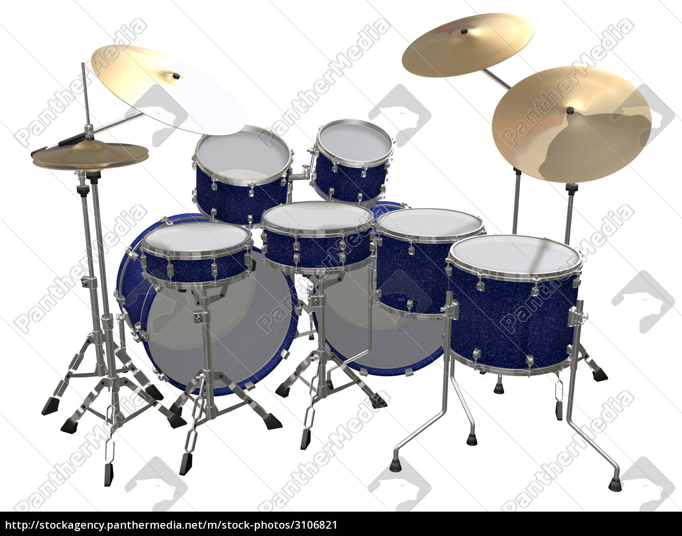 drum, kit, isolated, on, a, white - 3106821