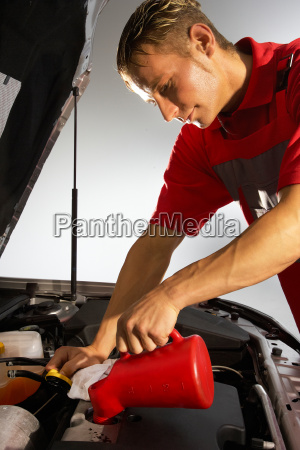 car, mechanic, refill, the, engine, oil - 3108671