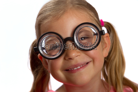 girl, wearing, big, glasses, and, smiling - 3110157