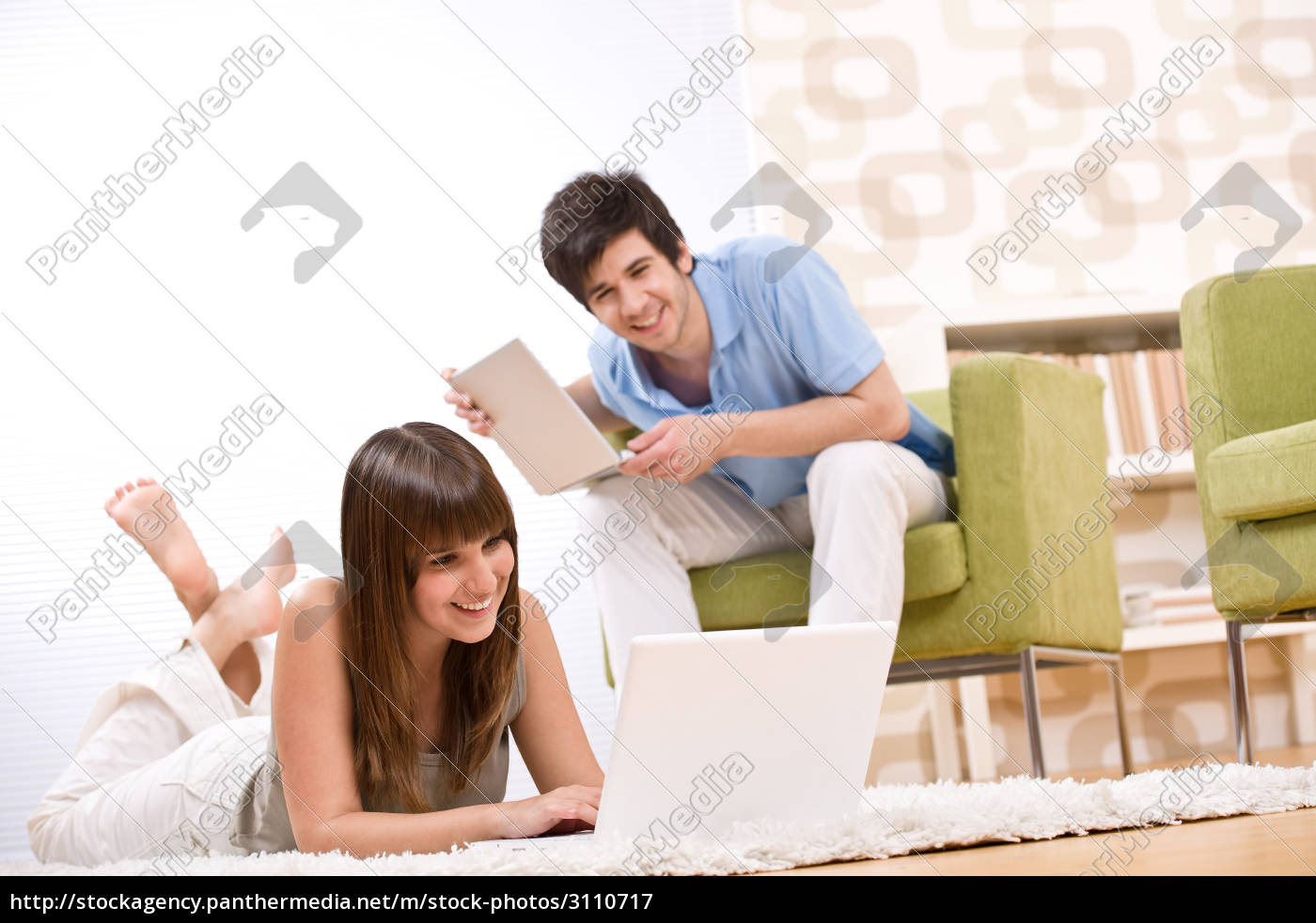 student, -, two, teenager, with, laptop - 3110717