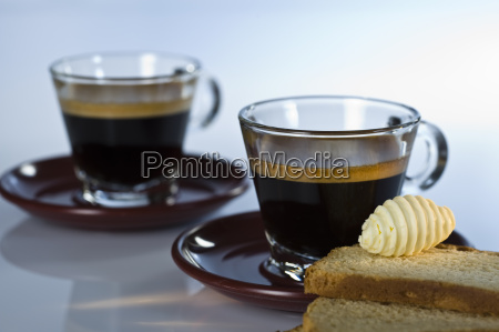 espresso with zieback and butter