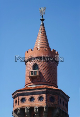 tower oberbaumbruecke with eagle